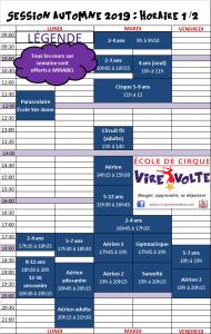 horaire cirque mirabel jour(activités enfants et adultes)